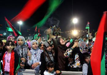 Libya'da Zafer Kutlamaları