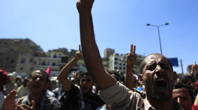 Yemendeki Gösterilerde Yine Kan Aktı