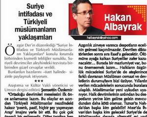 Suriye intifadası ve Türkiyeli müslümanların yaklaşımları