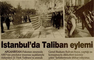 İstanbulda Taliban Eylemi