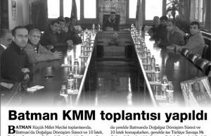Batman KMM Toplantısı Yapıldı