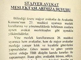 İstanbul Barosu: Başörtülüler Giremez!