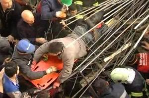 Nevşehirde Cami İnşaatı Çöktü
