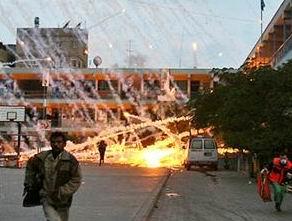 Siyonist İsrail Gazze'de Kimyasal Silah Kullandı