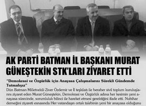 Murat Günestekin STKları Ziyaret Etti