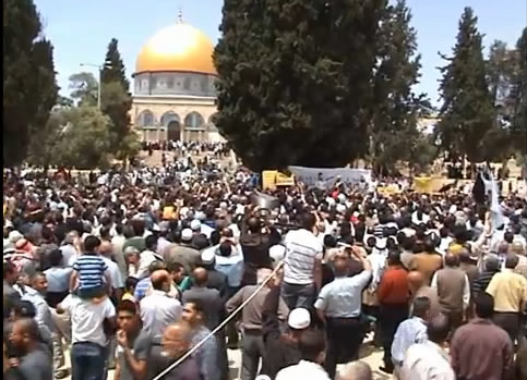 Kudüste Suriye Direnişine Destek Eylemi (VİDEO)
