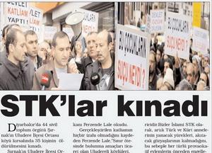 STKlar Kınadı