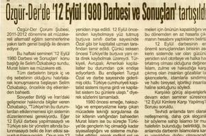12 Eylül 1980 Darbesi Ve Sonuçları