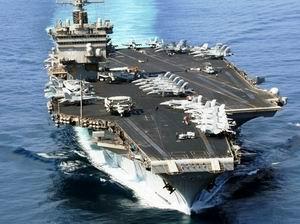 ABD Uçak Gemisi Hürmüz Boğazından Geçti