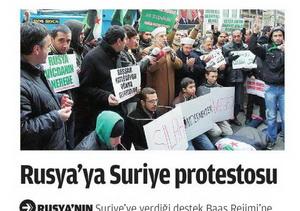 Rusyaya Suriye Protestosu