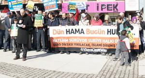 Bursada Humus Katliamı Protesto Edildi