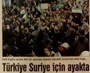 Türkiye Suriye İçin Ayakta