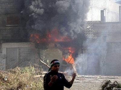 Humus'ta Bombaların Altında Canlı Yayın! (Video)