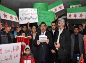 Suriyedeki Katliamlara Mardinde Protesto