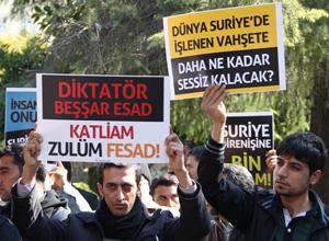 Adanada Suriye Halkıyla Dayanışma Eylemi