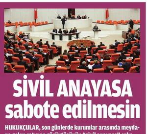 Sivil Anayasa Sabote Edilmesin
