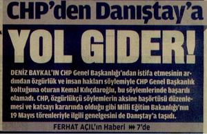 CHPden Danıştaya Yol Gider!
