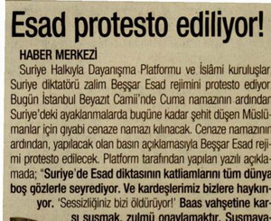 Esad Protesto Ediliyor!