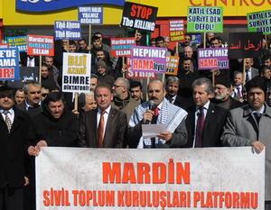 Mardin'de Esed ve Baas Diktası Protesto Edildi