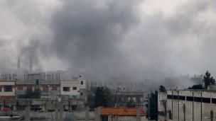 Esed Güçleri Binniş Kentine Saldırdı
