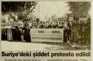 Suriyedeki Şiddet Protesto Edildi