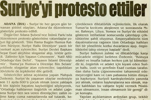 Suriyeyi Protesto Ettiler