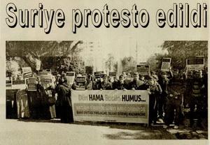 Suriye Protesto Edildi