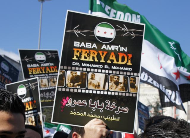 Baba Amr Katliamı Beyazıtta Protesto Edildi!