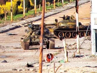 Esed'in Tankları Şehri Böyle Bombalıyor (VİDEO)