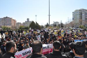 Diyarbakırda Suriye Halkına Destek Eylemi