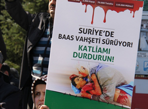 Sapancada Baas Katliamları Protesto Edildi