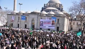 Beyazıt Meydanında Binlerce Kişi Suriye İntifadasını Selamladı!