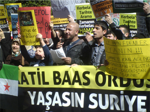 Adanada Katil Baas Rejimi Protesto Edildi