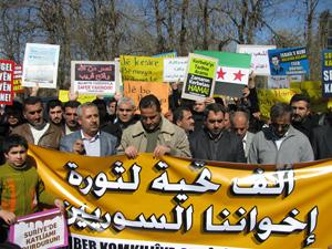 Suriye Sınır Kapısında Esed Protesto Edildi