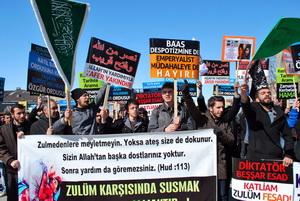 Erzurumda Suriye Direnişine Destek Eylemi