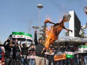 Konya'da Katil Baas Cuntası Protesto Edildi