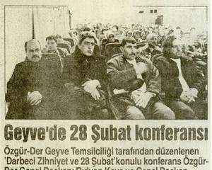 Geyve'de 28 Şubat Konferansı
