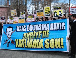 Karsta Suriye Direnişine Destek Eylemi