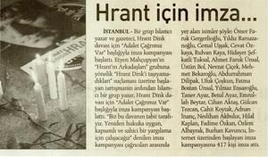 Hrant İçin İmza