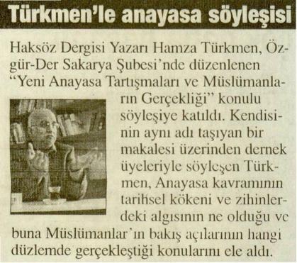 Türkmenle Anayasa Söyleşisi