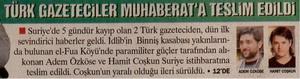 Türk Gazeteciler Muharebata Teslim Edildi