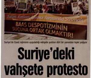 Suriyedeki Vahşete Protesto