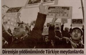 Direnişin Yıldönümünde Türkiye Meydanlarda
