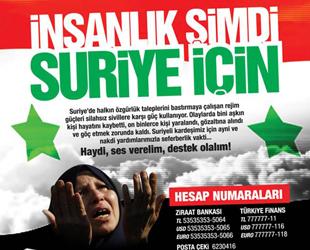 Mazlum Suriye Halkı İçin Yardım Kampanyası