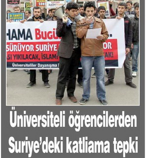 Üniversiteli Öğrencilerden Suriyedeki Katliama Tepki