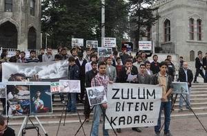 AGD Suriye'deki Zulmü Protesto Etti