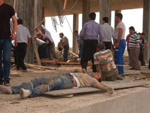 Osmaniyede İnşaatta Kaza; 10 Yaralı