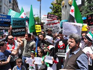El-Hula Katliamı İstanbulda Protesto Edildi