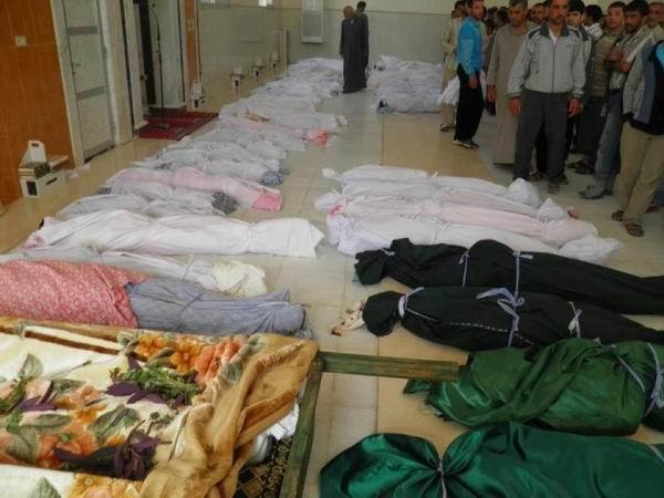 El-Hula Maktulleri Toplu Mezara Defnedildi (VİDEO)