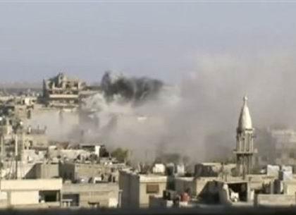 Suriye Ordusu Derayı Bombalıyor